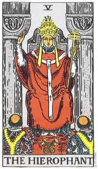 Papież karta tarota