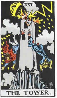 Wieża Boga karta tarota